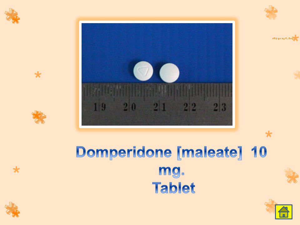 Domperidone [maleate] 10 mg. Tablet